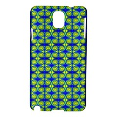 Blue Yellow Green Swirl Pattern Samsung Galaxy Note 3 N9005 Hardshell Case