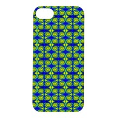 Blue Yellow Green Swirl Pattern Apple Iphone 5s/ Se Hardshell Case by BrightVibesDesign