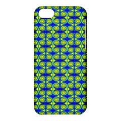 Blue Yellow Green Swirl Pattern Apple Iphone 5c Hardshell Case by BrightVibesDesign