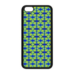 Blue Yellow Green Swirl Pattern Apple Iphone 5c Seamless Case (black)