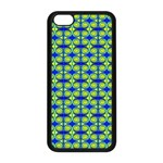 Blue Yellow Green Swirl Pattern Apple iPhone 5C Seamless Case (Black) Front