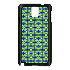Blue Yellow Green Swirl Pattern Samsung Galaxy Note 3 N9005 Case (black) by BrightVibesDesign