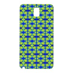 Blue Yellow Green Swirl Pattern Samsung Galaxy Note 3 N9005 Hardshell Back Case by BrightVibesDesign