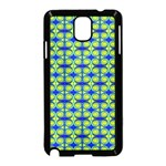 Blue Yellow Green Swirl Pattern Samsung Galaxy Note 3 Neo Hardshell Case (Black) Front