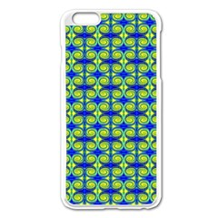 Blue Yellow Green Swirl Pattern Apple Iphone 6 Plus/6s Plus Enamel White Case by BrightVibesDesign
