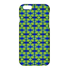 Blue Yellow Green Swirl Pattern Apple Iphone 6 Plus/6s Plus Hardshell Case by BrightVibesDesign