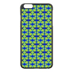 Blue Yellow Green Swirl Pattern Apple Iphone 6 Plus/6s Plus Black Enamel Case