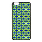 Blue Yellow Green Swirl Pattern Apple iPhone 6 Plus/6S Plus Black Enamel Case Front