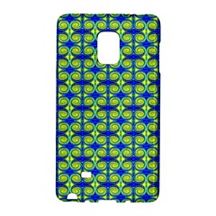 Blue Yellow Green Swirl Pattern Galaxy Note Edge by BrightVibesDesign