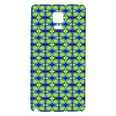 Blue Yellow Green Swirl Pattern Galaxy Note 4 Back Case by BrightVibesDesign