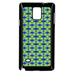 Blue Yellow Green Swirl Pattern Samsung Galaxy Note 4 Case (black)