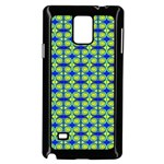 Blue Yellow Green Swirl Pattern Samsung Galaxy Note 4 Case (Black) Front