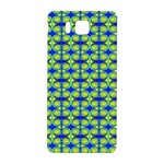 Blue Yellow Green Swirl Pattern Samsung Galaxy Alpha Hardshell Back Case Front