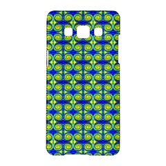 Blue Yellow Green Swirl Pattern Samsung Galaxy A5 Hardshell Case  by BrightVibesDesign