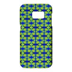 Blue Yellow Green Swirl Pattern Samsung Galaxy S7 Hardshell Case