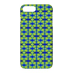 Blue Yellow Green Swirl Pattern Apple Iphone 7 Plus Hardshell Case by BrightVibesDesign