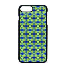 Blue Yellow Green Swirl Pattern Apple Iphone 7 Plus Seamless Case (black) by BrightVibesDesign