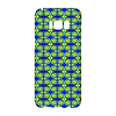 Blue Yellow Green Swirl Pattern Samsung Galaxy S8 Hardshell Case  by BrightVibesDesign