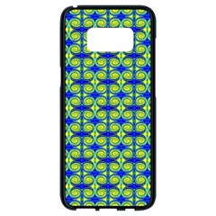 Blue Yellow Green Swirl Pattern Samsung Galaxy S8 Black Seamless Case by BrightVibesDesign