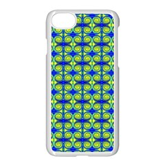 Blue Yellow Green Swirl Pattern Apple Iphone 8 Seamless Case (white) by BrightVibesDesign