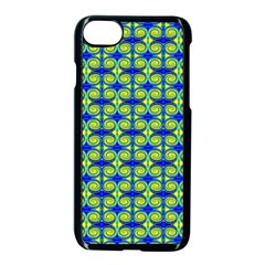 Blue Yellow Green Swirl Pattern Apple Iphone 8 Seamless Case (black) by BrightVibesDesign