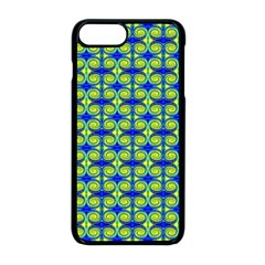 Blue Yellow Green Swirl Pattern Apple Iphone 8 Plus Seamless Case (black) by BrightVibesDesign