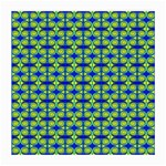 Blue Yellow Green Swirl Pattern Medium Glasses Cloth (2-Side) Front