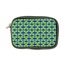 Blue Yellow Green Swirl Pattern Coin Purse