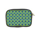 Blue Yellow Green Swirl Pattern Coin Purse Back