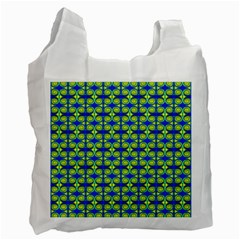 Blue Yellow Green Swirl Pattern Recycle Bag (one Side) by BrightVibesDesign