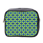 Blue Yellow Green Swirl Pattern Mini Toiletries Bag 2-Side Front