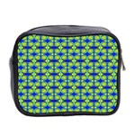 Blue Yellow Green Swirl Pattern Mini Toiletries Bag 2-Side Back