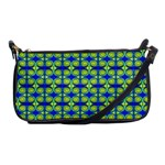Blue Yellow Green Swirl Pattern Shoulder Clutch Bags Front