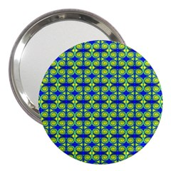 Blue Yellow Green Swirl Pattern 3  Handbag Mirrors