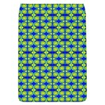 Blue Yellow Green Swirl Pattern Flap Covers (L)  Front
