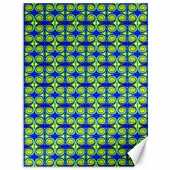 Blue Yellow Green Swirl Pattern Canvas 36  X 48   by BrightVibesDesign