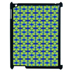 Blue Yellow Green Swirl Pattern Apple Ipad 2 Case (black) by BrightVibesDesign