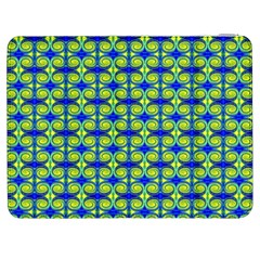 Blue Yellow Green Swirl Pattern Samsung Galaxy Tab 7  P1000 Flip Case by BrightVibesDesign