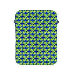Blue Yellow Green Swirl Pattern Apple Ipad 2/3/4 Protective Soft Cases