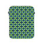 Blue Yellow Green Swirl Pattern Apple iPad 2/3/4 Protective Soft Cases Front