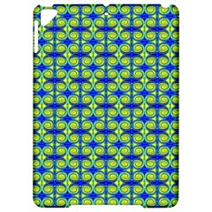 Blue Yellow Green Swirl Pattern Apple Ipad Pro 9 7   Hardshell Case by BrightVibesDesign