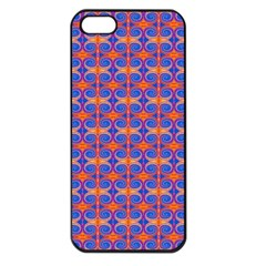 Blue Orange Yellow Swirl Pattern Apple Iphone 5 Seamless Case (black) by BrightVibesDesign