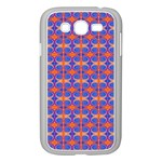 Blue Orange Yellow Swirl Pattern Samsung Galaxy Grand DUOS I9082 Case (White) Front