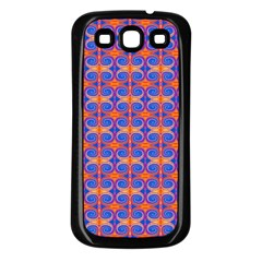 Blue Orange Yellow Swirl Pattern Samsung Galaxy S3 Back Case (black) by BrightVibesDesign