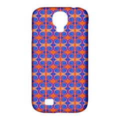Blue Orange Yellow Swirl Pattern Samsung Galaxy S4 Classic Hardshell Case (pc+silicone)