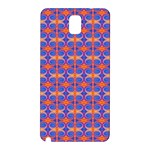 Blue Orange Yellow Swirl Pattern Samsung Galaxy Note 3 N9005 Hardshell Back Case Front