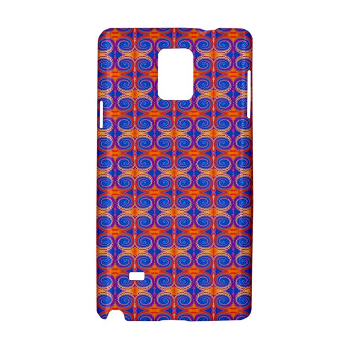 Blue Orange Yellow Swirl Pattern Samsung Galaxy Note 4 Hardshell Case