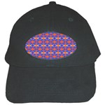 Blue Orange Yellow Swirl Pattern Black Cap Front
