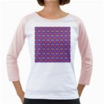 Blue Orange Yellow Swirl Pattern Girly Raglans Front
