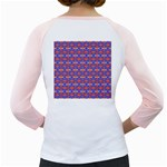 Blue Orange Yellow Swirl Pattern Girly Raglans Back